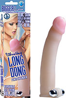Vibrating Long Dong Penis Extension