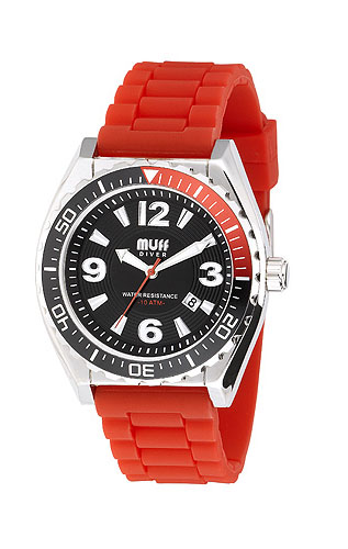 Muff Divers Watch Red